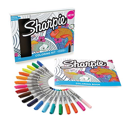 sharpie-permanent-markers-10-fine-10-ultra-fine-tip-assorted-colors-with-aquatic-themed-adult-colori