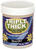 DecoArt TG01-10 Triple Thick Gloss Glaze, 4-Ounce Triple Thick Gloss Glaze (Jar)