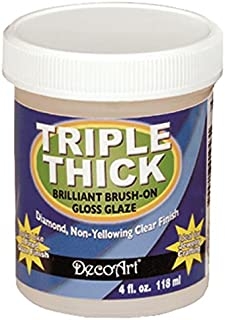 product image for DecoArt TG01-10 Triple Thick Gloss Glaze, 4-Ounce Triple Thick Gloss Glaze (Jar)