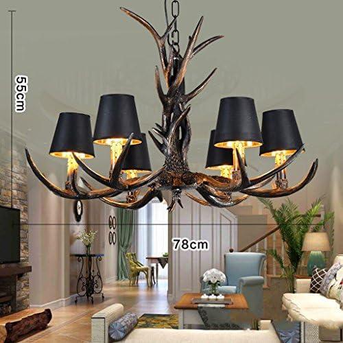 Vintage Geweih Kronleuchter, 6 Lichter/Wohnzimmer Beleuchtung Antler Lampe Restaurant Loft Bar Eisen Industrie Kronleuchter Retro Kronleuchter