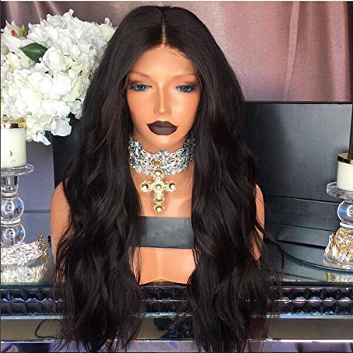 Natural Looking Body Wave100% Brazilian Remy Human Hair Glueless Full Lace Wigs150 Density (22Inch Full Wigs, Natural Color)