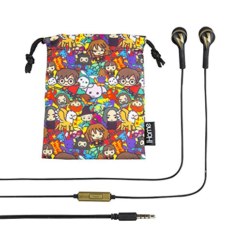 (Harry Potter in Ear Earbuds with Call Answer Button )