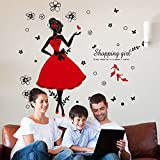 Kaimao Dance Girl Removable Wall Stickers Art Decal Murals for Shopping Mall Clothing Store Decoration