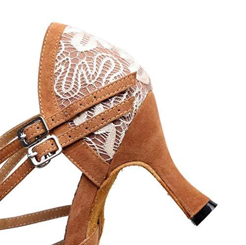 our40 Brown5cm Chaussures Shoes Dames Latine Pour Danse Taille En coloré Uk6 Tango Satin De eu39 Hhgold ZRAwHqgg