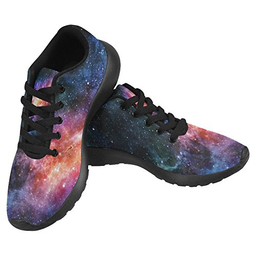 Cheap InterestPrint Women's Jogging Running Sneaker Lightweight Go Easy Walking Casual Comfort Running Shoes Size 8 Deep Outer Space With Stars and Nebula