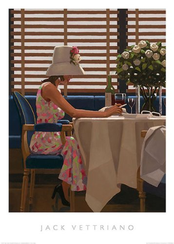 Days of Wine & Roses Jack Vettriano Romance Cafe Fantasy Print Poster 19.5x27.5