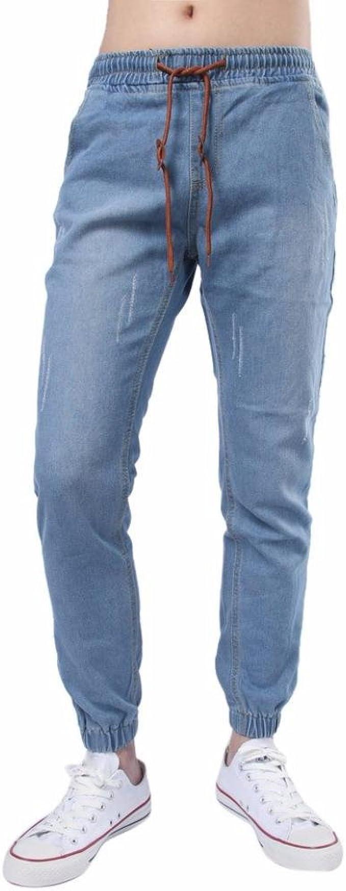 Sopravvivere promemoria mercoledì  Beauty Top Jeans Uomo, Pantaloni Jogging Lunghi da Uomo con Coulisse Polsini  Vintage Slim Fit Palestra Sportivi Pantaloni Pantalone della Tuta Jeans  Trousers (Blu#1, L): Amazon.it: Abbigliamento