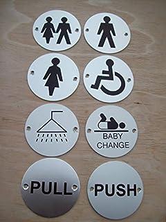 SILVER ALUMINIUM DOOR SIGNS TOILET GENTS LADIES BABY CHANGE ROOM Baby change room
