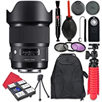 Sigma 20mm f/1.4 DG HSM Art Lens For Nikon + Accessory Bundle