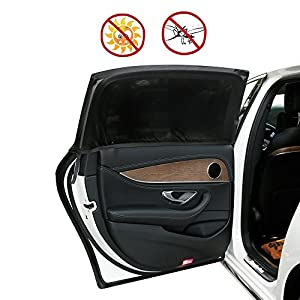 """Carrep Universal Fit Car Side Window Sun Shade Sunshades 2 Package Protects Baby from Sun, Harmful UV Rays,Fits Big Cars, BigTrucks and Big SUVs (XL 49""""X 21"""")"""
