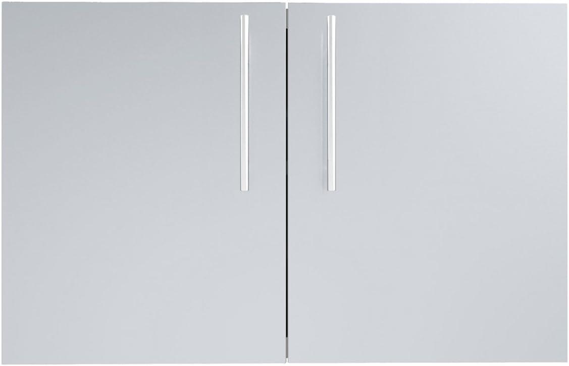 SUNSTONE DE-DD36 Designer Series Raised Style Double Door with Shelves, 36