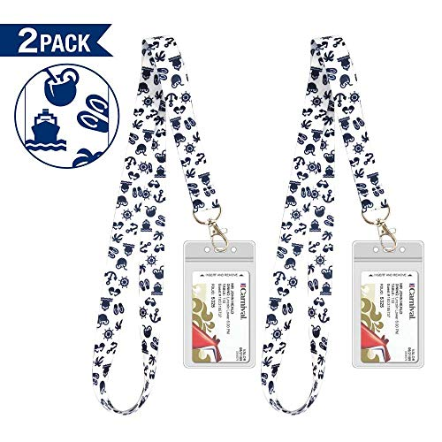 Lanyards for Cruise Key Cards [2 Pack] with Waterproof Key Cruise Card Holder