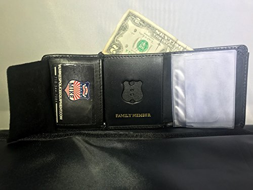(NYPD POLICE OFFICER FAMILY MEMBER MINI SHEILD,ID CREDIT CARD PICTURE WALLET )