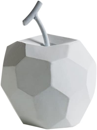 Torre & Tagus Carved Angle Apple Home Office, Table Centerpiece, Decoration for Bookshelf, Bedroom, White