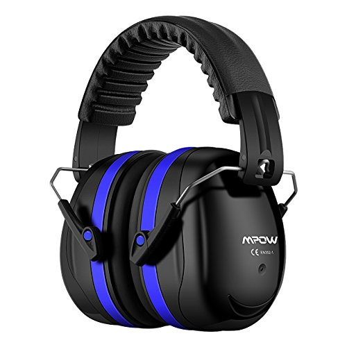 - Mpow 035 Noise Reduction Safety Ear Muffs, Shooters Hearing Protection Ear Muffs, Adjustable Shooting Ear Muffs, NRR 28dB Ear Defenders for Shooting Hunting Season, with a Carrying Bag- Royal Blue
