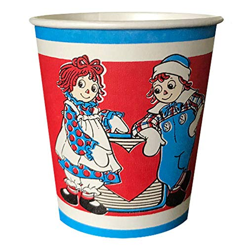 Raggedy Ann and Andy Vintage 1988 7oz Paper Cups (8ct)]()