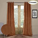 Cheap Artdix Blackout Curtains Panels Window Drapes – Rusty Gate 50W x 102L Inches (2 Panels) Velvet Lined Grommet Top Nursery Insulated Solid Thermal Custom Curtains For Bedroom, Living Room, Kids Room