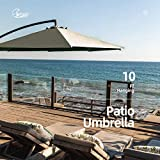 Wikiwiki Offset Umbrella 10ft Cantilever Patio