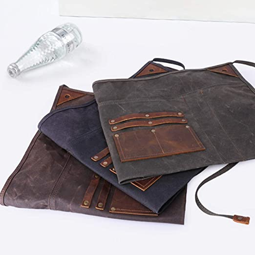 XINXI-MAO Mens Pockets Vintage Suede Leather Mens Pockets Leather Retro Pockets Phone Pockets Color : Brown, Size : M