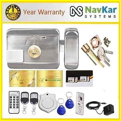 NAVKAR Electronic Door Lock for House Main Gate/Metal Door/ Wooden Door-Complete kit