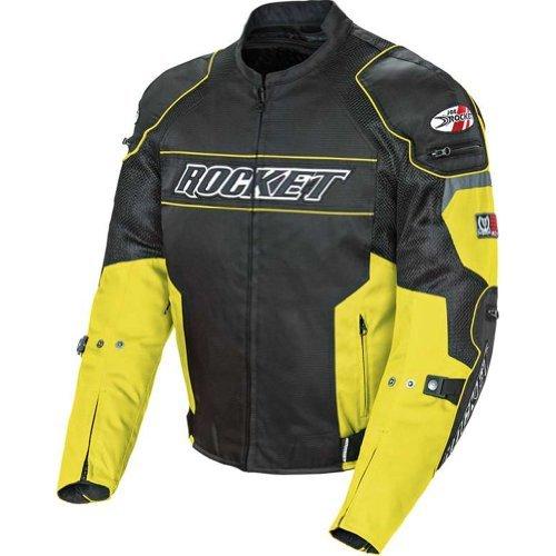 Joe Rocket Resistor Men's Mesh Sports Bike Racing Motorcycle Jacket - Yellow/Black / X-Large