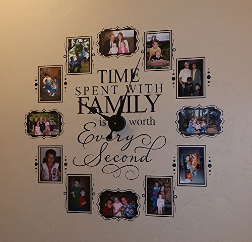 - CL205 Family Photo Vinyl Decal Clock (Black)