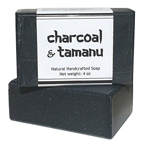 Activated Charcoal Bar Soap - All Natural Detox Black Soap with Tea Tree and Tamanu