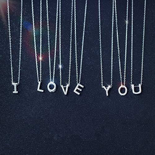 Real Sterling Silver a-z Letters Capital Alphabet White Pendants | for Necklace | DIY Jewelry (1pc) ()