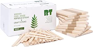 RT-4.5 Inch Food-Grade Natural Birch Craft Stick/Popsicle Stick/Ice Cream Stick (1000 sticks)Is Very Suitable For DIY Handmade.