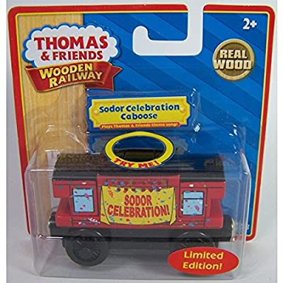 Thomas & Friends Limited Edition Musical Sodor Celebration Caboose Wooden Train: Toys & Games