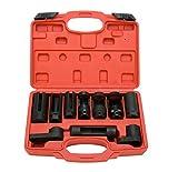 8milelake 10pcs Oxygen Sensor Socket Set Sensor Oil Pressure Sending Unit Socket Set