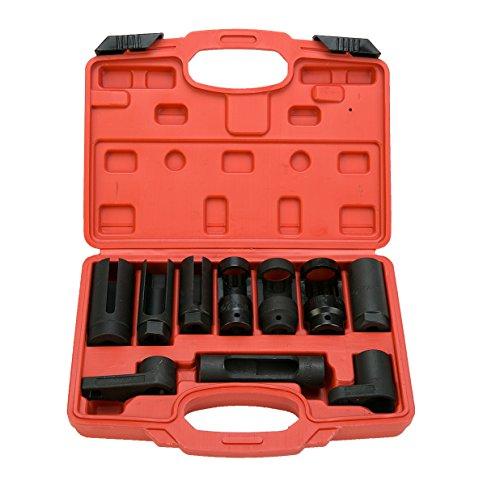 8MILELAKE 10pcs Oxygen Sensor Socket Set Sensor Oil Pressure Sending Unit Socket -