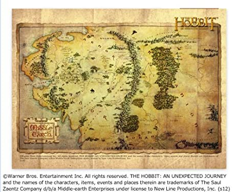 the hobbit an unexpected journey middle earth map microfiber towel the hobbit