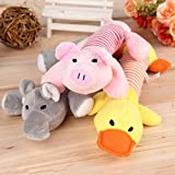 Pet Puppy Dog Chew Squeaker Squeaky Plush Sound Pig Elephant Duck Ball Toy Chew Squeaky Toy Gifts Cat Toys Interactive Cat Dog Squeaky Cute Toys Small Medium Dog Rabbit Puppy Pet Cat Supplies (Yellow)