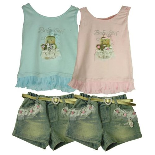 Bulk Buys Baby Girl 2 Piece Top- Short Outfit - Case of 12