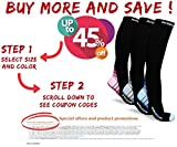 Physix Gear Compression Socks Men & Women (20-30 mmHg) Best Graduated Athletic Fit Running, Nurses, Shin Splints, Flight Travel & Maternity Pregnancy - Boost Stamina, Circulation & Recovery