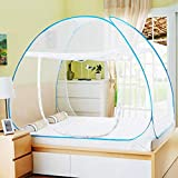 AMMER Pop Up Mosquito Net Tent, Foldable Bed Canopy Double Door with Bottom for Bed Travel Camping Outdoor(79 x71x59 inch)