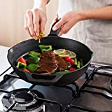 Preseasoned Cast Iron Skillet 12 Inch with