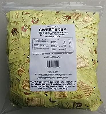 Bulk No Calorie Sweetener - 1000 Yellow Packets (Generic Splenda®)