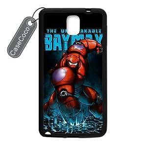 CASECOCO(TM) Favorite Comic Big Hero 6 Baymax Samsung Galaxy Note 3 Case - Protective Hard Back / Black Rubber Sides Case for Samsung Galaxy Note 3
