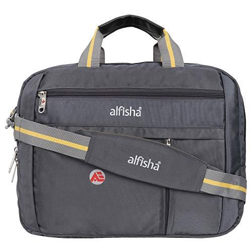 "Alfisha 3 Way Convertible Laptop Bag/Backpack, Laptop Office Hand Bag, Laptop Messenger Bag, Shoulder | Hand | Backpack Bag(Water-Resistant Fabric |Suitable for up to 16 Inch"" Laptop(Grey)"
