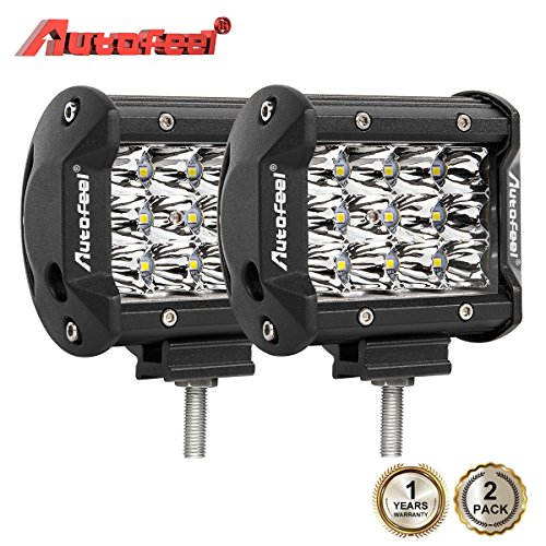LED Light Bar 2PCS 3 row lights 36w 4 inch Fog Light Off Road Lights driving lights Led Waterproof LED Driving Lights Boat Lamp - 1 years Warranty