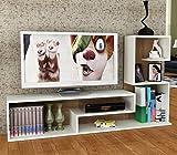 DUCHESS Set Soggiorno - Bianco / Avola - Mobile TV Porta con mensola in un design moderno