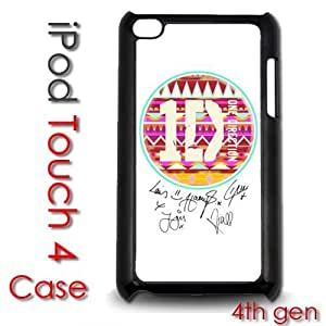 IPod Touch 4 4th gen Touch Plastic Case - One Direction Tribal Pattern Aztec Autographs