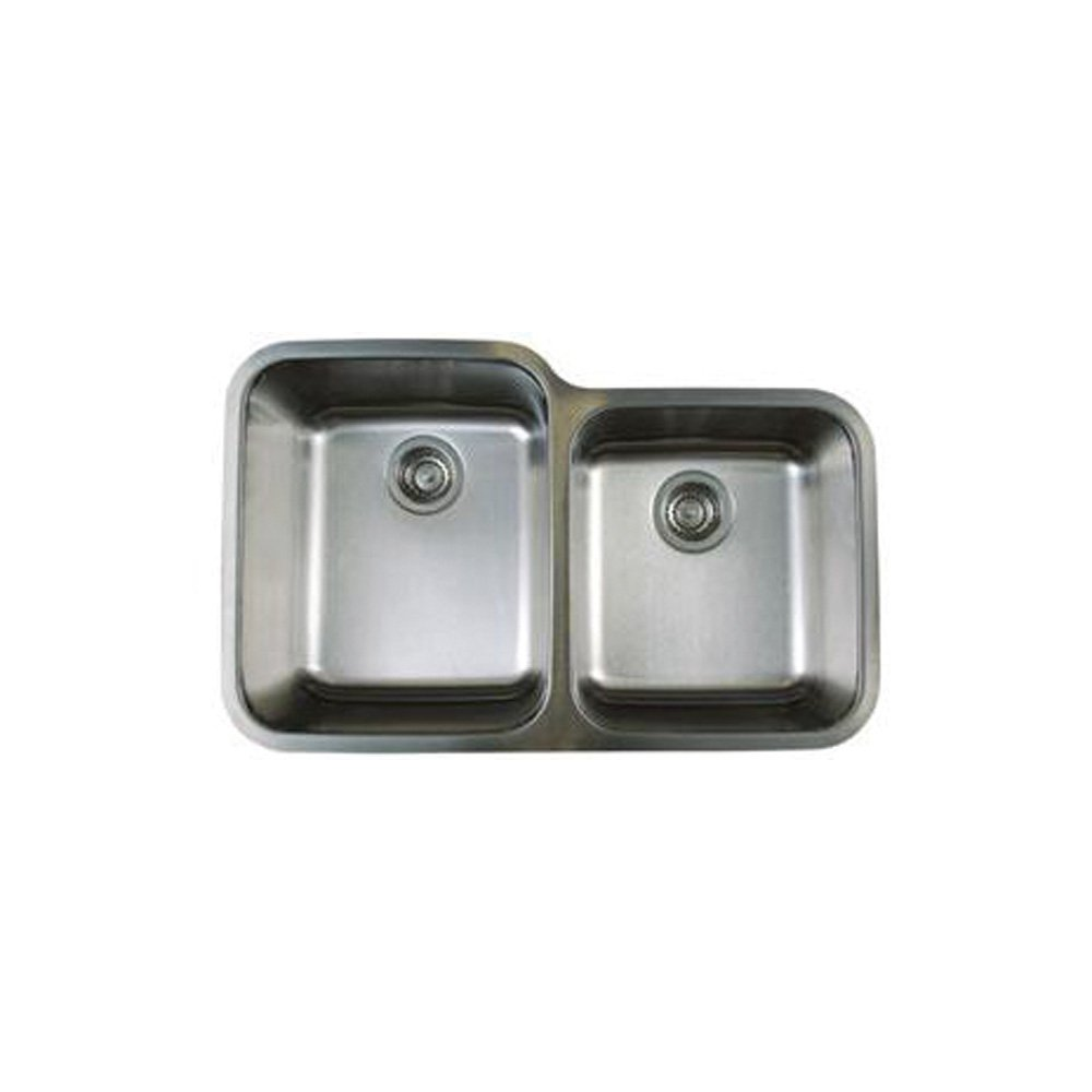 Blanco BL441023 Stellar 1 3/4 Inch Bowl Undermount Sink, Refined Brushed    Double Bowl Sinks   Amazon.com