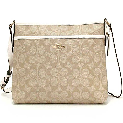 COACH FILE CROSSBODY IN SIGNATURE CANVAS F29210 IMDQC, Light Khaki/Chalk/Imitation Gold, Medium
