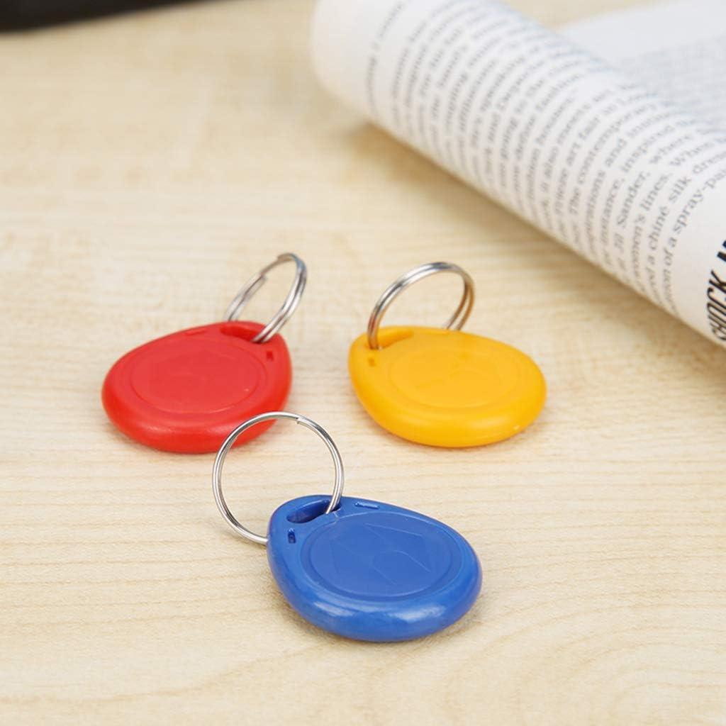 yotijar Handheld 125KHz RFID ID Card Writer//EM4305 Key Card Copier Duplicator O 3pcs Scrivibile Token Tag per casa di Sicurezza 3Pcs FOB Tag