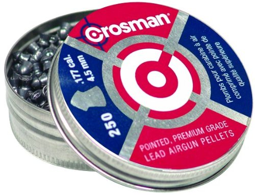 Crosman .177 Cal, 7.4 Grains, Pointed, 250ct