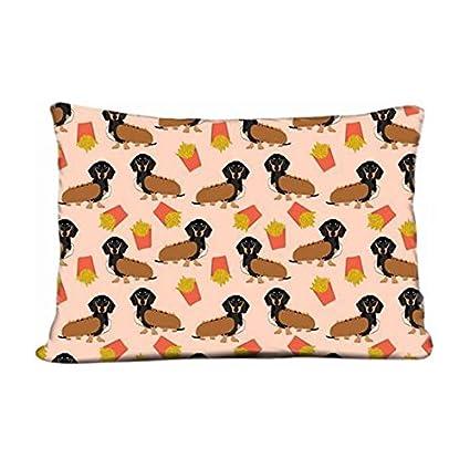 DIY suave Home ropa de cama funda de almohada Doxie de perro salchicha Teckel verde funda