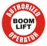 """1-Pcs Ideal Popular Authorized Boom Lift Operator Vinyl Stickers Sign Shop Decor Tow Motor Forklift Pallet Size 2"""" Color Red Black White"""